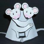 Homeschool hugging mice paper craft sunday school craft