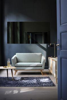 Canapé 120 Tissu Bakou Celadon Dans Le Petit Salon De Lu0027Appartement Red  #rededition