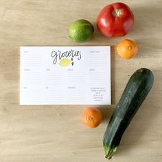 Stay organized with this easy to use hand lettered grocery list notepad. Includes 9 sections: meat, produce, dairy, deli, frozen, household, canned goods, bakery and misc. Notepad measures 8.5x5.5'', includes 40 sheets of 70lb bright while ultra smooth paper   $10