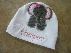 May 7, 2013 - Personalized Baby Girl Elephant Jersey Knit by hippbowsboutique, $12.95