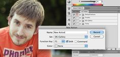 creating photoshop actions + 100 free actions