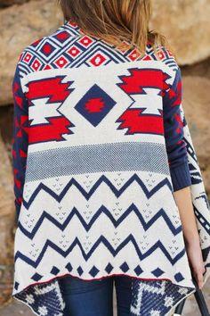 How to Chic: AZTEC PRINT CARDIGAN