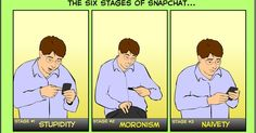 The Six Stages of Snapchat [COMIC]