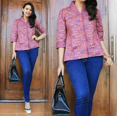 Yy Blouse Batik, Kebaya, Ikat, Elegant, Casual, Beautiful, Tops, Dresses, Model