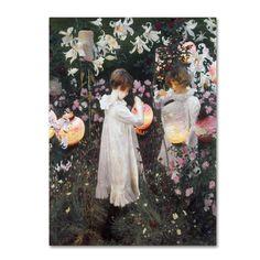 John Singer Sargent 'Carnation Lily Rose' Canvas Art