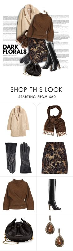 """#darkflorals"" by gracekathryn ❤ liked on Polyvore featuring H&M, Loro Piana, UGG, River Island, Dsquared2, Marc Jacobs, Shay, fashionset and womensFashion"