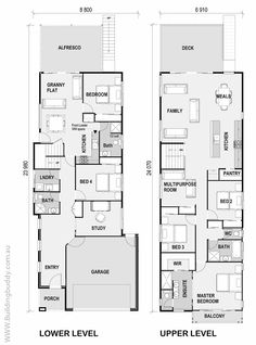 Lot Narrow Plan House Designs Craftsman Narrow Lot House Plans ...