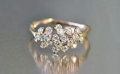 Diamond Cluster Ring: LOVE THIS, also perfect and less expensive