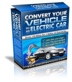 With our Electric Car Conversion Kit you will reduce your gas bill