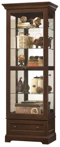 Manford Curio Cabinet, Howard Miller, Curios Collection | Home Gallery Stores