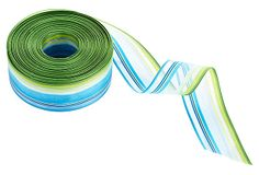 "1.5"" x 30 yds. Sheer Striped Ribbon, Blue/Green on OneKingsLane.com                                               18"