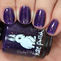 HARE polish The Wanderer | Spring 2015 Stir Crazy Spring Collection | Peachy Polish - I would make an exception to my flakie rule for this one!!  #purple