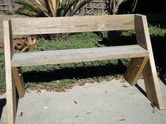 aldo leopold bench | How to Build an Aldo Leopold Bench | General Arts & Crafts | FireHow ... #woodworkingbench
