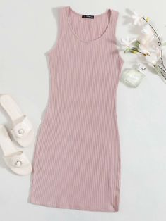 Really Cute Outfits, Cute Casual Outfits, Pretty Outfits, Girls Fashion Clothes, Teen Fashion Outfits, Girl Outfits, Cut Clothes, Kawaii Clothes, Ribbed Knit Dress