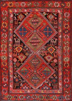 Antique Vegetable Dye Tribal 4x5 Kazak Caucasian Russian Oriental Rug 5'2 x 3' 8 | Home & Garden, Rugs & Carpets, Area Rugs | eBay!