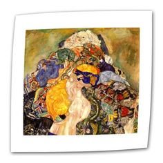 """ArtWall Baby Detail by Gustav Klimt Painting Print on Rolled Canvas Size: 20"""" H x 24"""" W"""