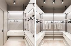 Check out this beautiful apartment created by Huge Studio  on nazzainteriordesign.com  #apartmentdesign #livingroom #kitchen #minimalistdesign #interiordesign #passionforinteriors #amazingspaces #bright #bedroom #sifornier #wardrobe #walkincloset