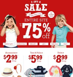 gymboree 75 percent off sale, stock up on kids fashion