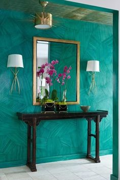 turquoise wall!  tumblr_mkceqjV3la1qjxia2o1_500