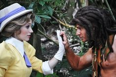 One of the best characterinteractionsphotos I have seen. Why? You barely see them in the parks. You barley see them together. Look at theemotionin their eyes! On a side note I am always a little worried's about what Tarzan is wearing in the parks.