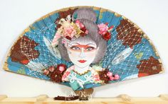 Asia King has created an amazing, oriental fan featuring the #BlossomBeauty from #Stampendous. #cre8time for beauty