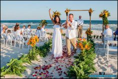 beach wedding by  Grand Beach Weddings in Clearwater, Florida  http://grandbeachweddings.com/grand-bamboo-beach-garden-wedding-package/