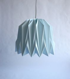 HANYA Origami Paper Lampshade by CutandFoldDesign on Etsy