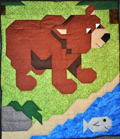 Brown Bear Quilt Pattern  PDF by CountedQuilts on Etsy, $9.00