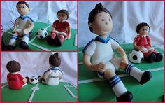 Bolo Campo futebol: O Ronaldo e o Pedro!, via Flickr.