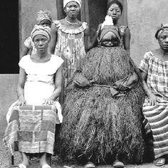 Mende Society women in Sierra Leone.