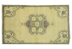 """Oushak, 4'10"""" x 2'10"""" Hand Knotted Rug"""