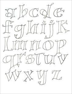 different lettering styles alphabet Hand Lettering Fonts, Doodle Lettering, Creative Lettering, Handwriting Fonts, Penmanship, Cursive, Font Art, Lettering Ideas, Typography Fonts