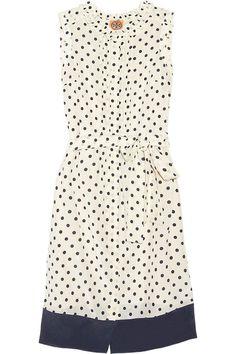 Tory Burch Graham polka-dot crepe dress