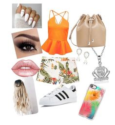 """Untitled #1"" by kl-eleta ❤ liked on Polyvore featuring Boohoo, MANGO, adidas, Lime Crime, Dolce&Gabbana and Casetify"