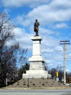 A.P. Hill Monument and Grave - Intersection of Laburnum and Hermitage Roads in Richmond, VA.