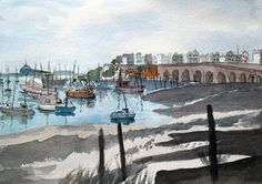 Ramsgate Original Watercolour Painting by JulianLovegroveArt, £50.00