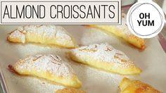 Classic Almond and Chocolate Croissants Almond Croissant, Croissant Recipe, Anna Olson, Baking Recipes, Cookie Recipes, Osvaldo Gross, Savory Scones, Flourless Cake, Orange Recipes