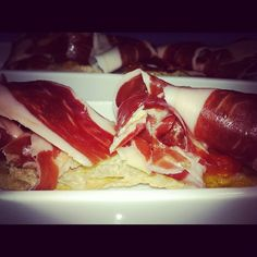 #jamón #pan  y #tomate