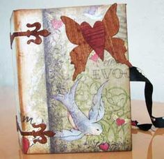 Altered gift box by Kristie Taylor