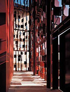 External facing for the Library of Nembro - Archea