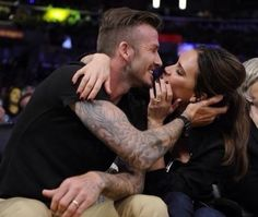 David and Victoria Beckham too much love
