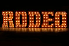 Marquee Letter Lighted Metal MARQUEE SIGN by TLNFunctionalArt, $875.00
