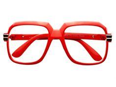 Clear Lens Run DMC Retro Square Glasses Red A583