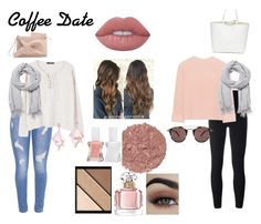 """""""Coffee Date"""" by norah-112 ❤ liked on Polyvore featuring adidas Originals, iHeart, Oliver Peoples, Witchery, Guerlain, Elizabeth Arden, Illamasqua, Essie, Lime Crime and MANGO"""