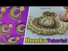 AARI WORK JHUMKA DESIGN TUTORIAL   jhumka design embroidery   jhumka design for blouse - YouTube