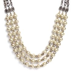 How to string pearls techniques - 3 Strand Pearl Necklace from Cousin