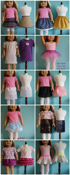 Tutorials for 18 doll clothes on nest full of eggs Sewing Doll Clothes, American Doll Clothes, Baby Doll Clothes, Sewing Dolls, Barbie Clothes, Crochet Clothes, Diy Clothes, Doll Sewing Patterns, Doll Clothes Patterns