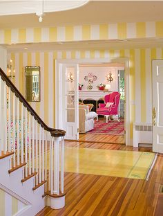Rhode Island Summer Home-Yellow Stripes