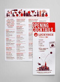 Luckyrice 2011 Festival #Layout #Design #Brochure #Editorial #Menu
