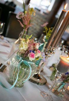 Vase für Vintage Tischdeko Hochzeit  von dotgriddesign ❤ auf DaWanda.com